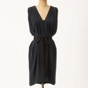 laurel ANTHROPOLOGIE adelaide silk dress S 2 4